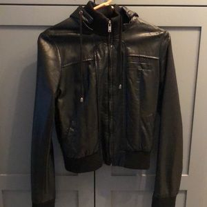 Black Vegan Leather Jacket